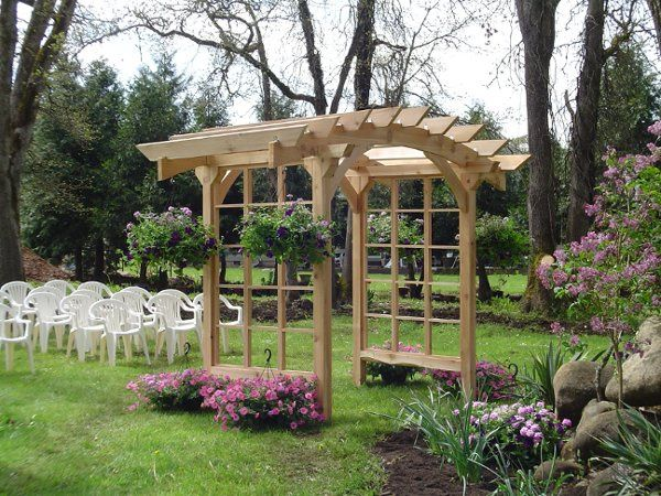 Handcrafted Wedding Arbor