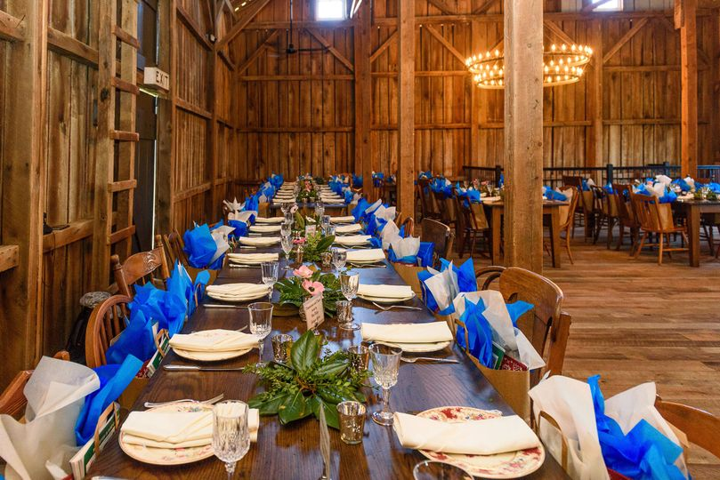 Long family table