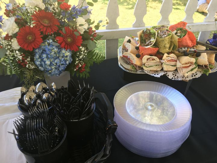 Garden fare available for a garden wedding
