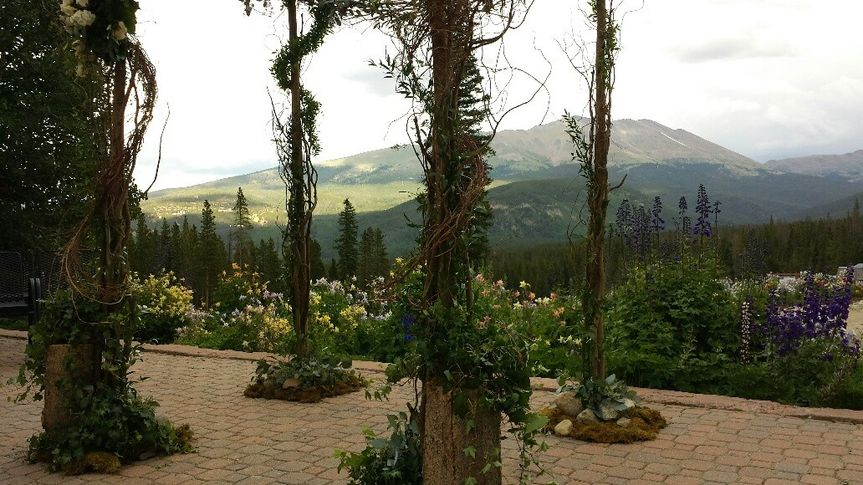 Late summer gardens in bloom and embrace the mountain's majesty.