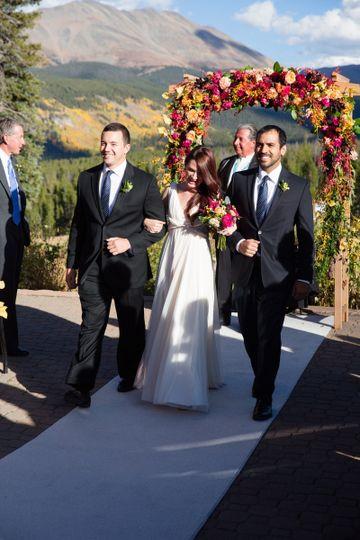 Fall wedding in the Rockies.#weddingsinbreck