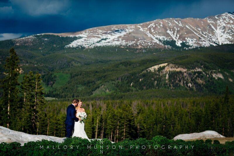 Spring wedding in the Rockies.