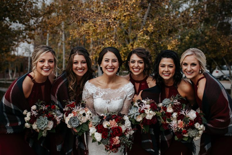 Liz & bridal party