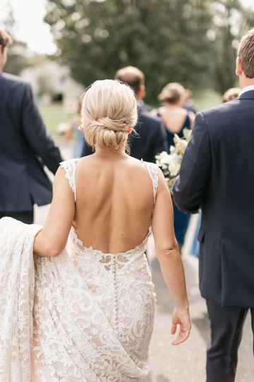 Backless lace gown - Alexandra Robyn Photo + Design