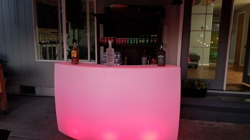 Curved LED portable Bar