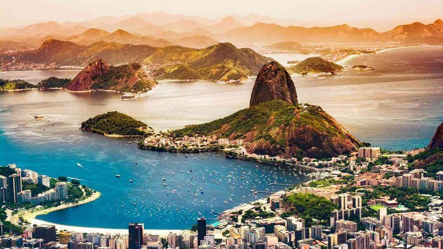 Blue waters of Brazil