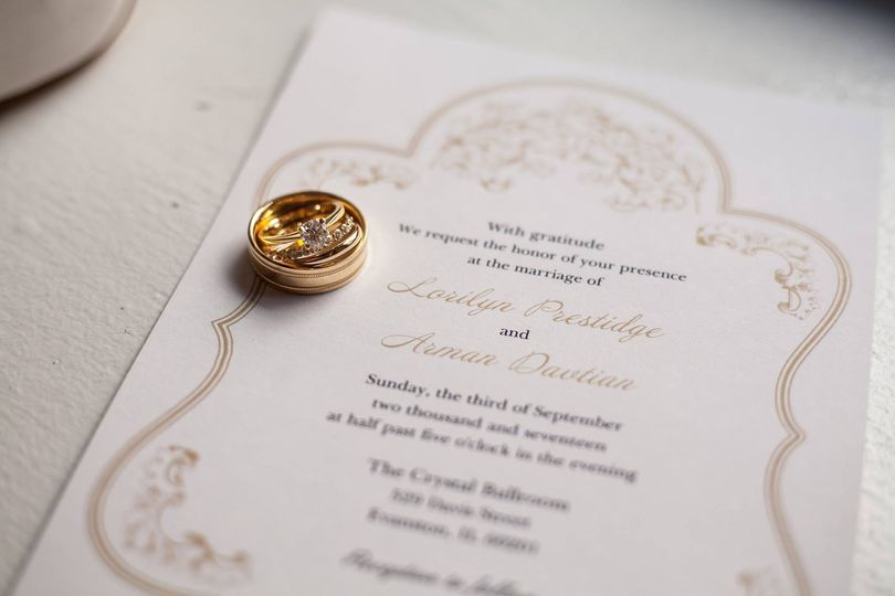 Rings on save the date