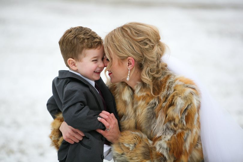 Mother & son sharing a moment