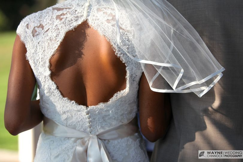 allen carter wed couple rear view