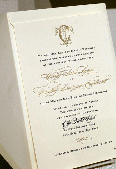 Classic engraved invitation