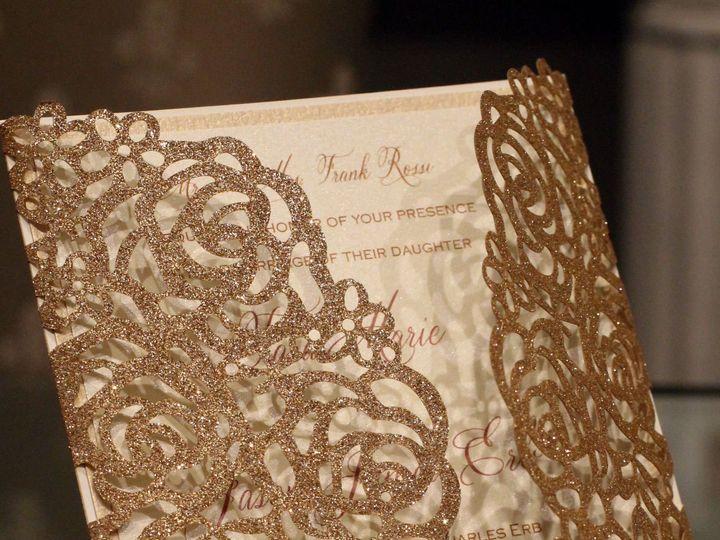 Tmx 1520014536 5f96482063b64119 1520014533 E34c34b3ce511b87 1520014546899 1 Mcdlaser Invites  Bohemia, NY wedding invitation