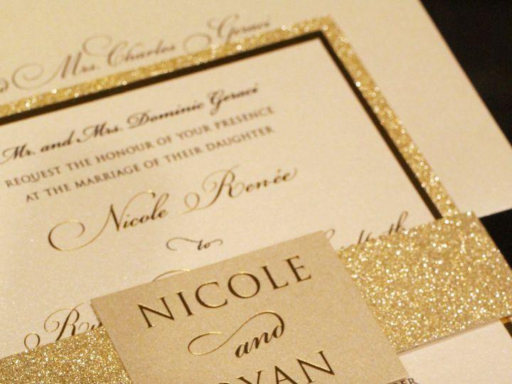 Tmx 1520014549 2183884a05d6a58e 1520014548 Ec741a69bff3d06b 1520014561916 2 Mcd Foil  Glitter  Bohemia, NY wedding invitation