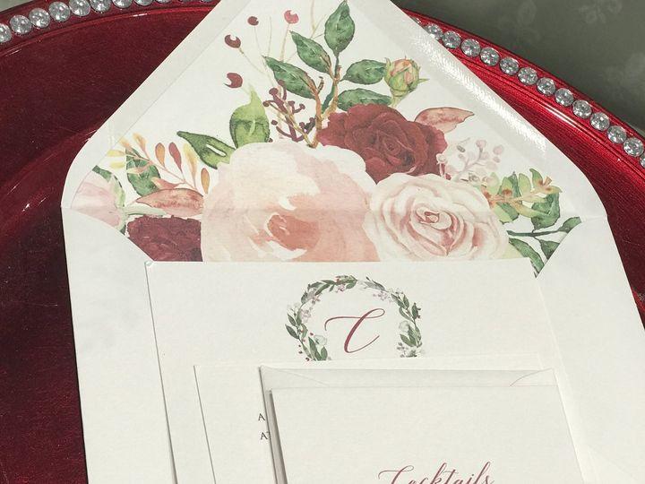 Tmx Floral With Wax Seal By Melinda Cantor Designs 51 405877 Bohemia, NY wedding invitation