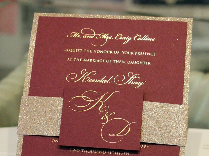 Tmx Glitter And Foil Mcd 51 405877 158078447866809 Bohemia, NY wedding invitation