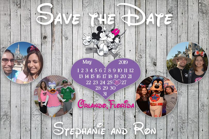 Mickey Minnie save the date