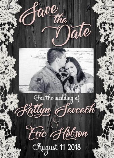 Save the date sample