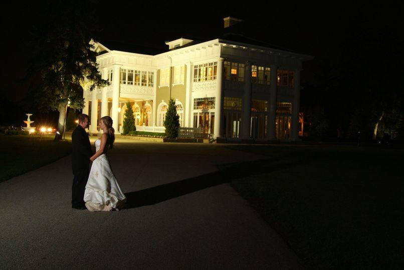 Night view at Lehmann Mansion