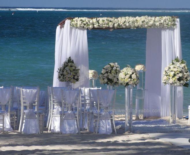 Beach Wedding Aisle Decoration