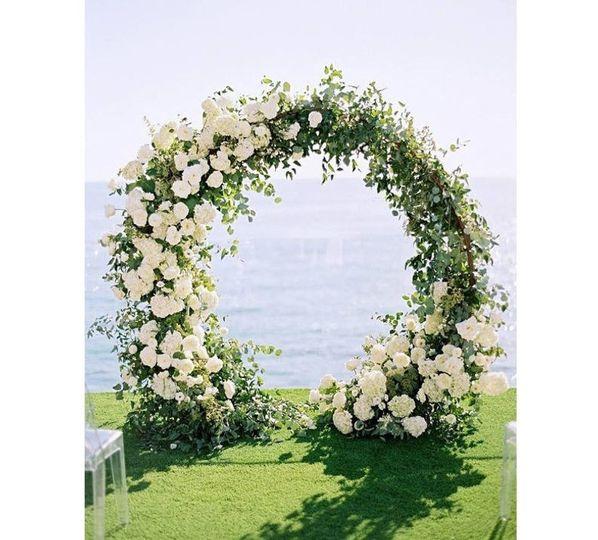 Round Floral Wedding Arch