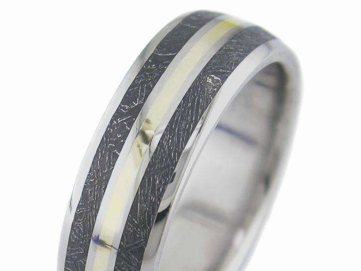 Tmx 1429716797825 Twinblackmeteoritewithgold Kennesaw, GA wedding jewelry