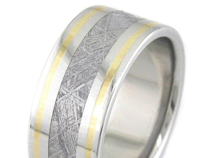 Tmx 1429716803630 Meteoriteflatwithtwingold Kennesaw, GA wedding jewelry