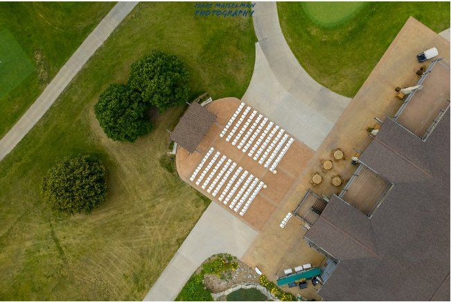 Tmx Bd Aerial View Of Ceremony Patio 51 76877 157375797574462 Coralville, IA wedding venue