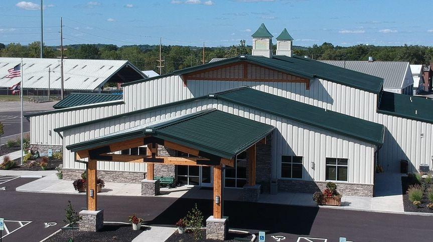 Aerial of entry, venue
