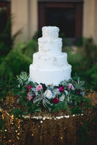 White towering cake