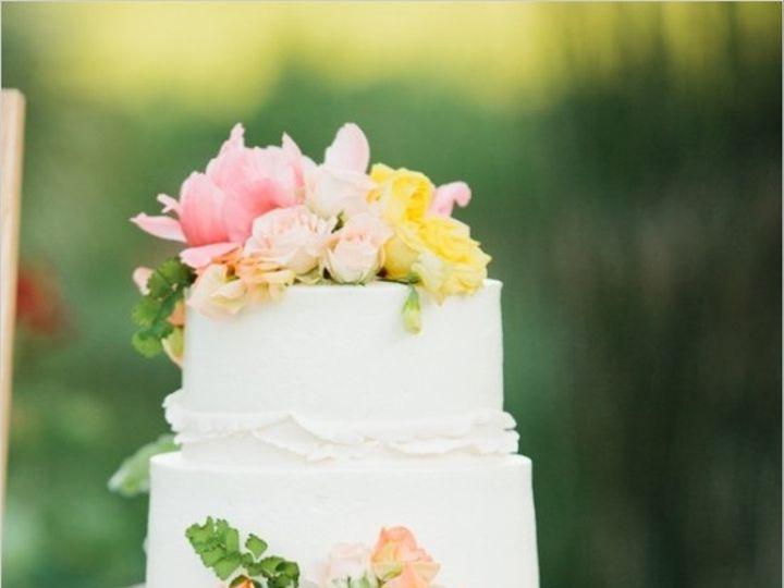Tmx 1469465617103 White Wedding Cake With Bright Floral Accents San Luis Obispo, California wedding cake
