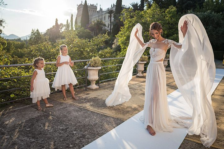 The bride gets the wings