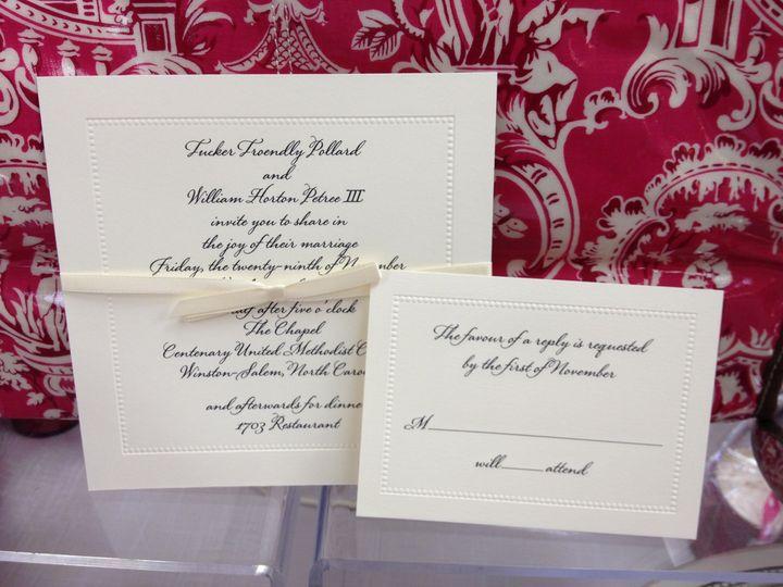 Tmx 1391802417290 Pollard Weddin Winston Salem, NC wedding invitation