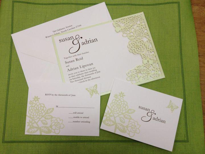 Tmx 1391802460014 Reid Weddin Winston Salem, NC wedding invitation