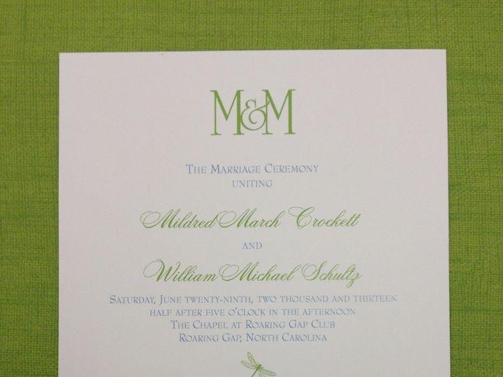 Tmx 1391802754333 Crockett Progra Winston Salem, NC wedding invitation
