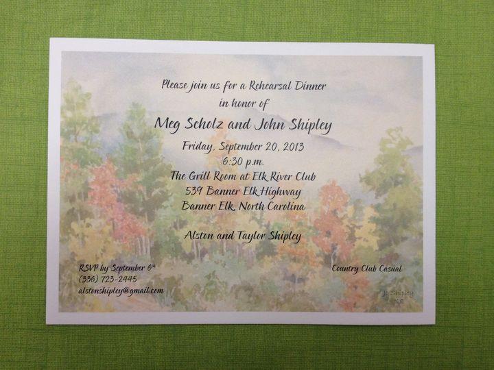 Tmx 1391802857794 Scholz Rehearsa Winston Salem, NC wedding invitation