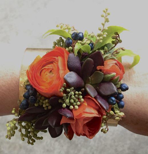 Wrist corsage colorful
