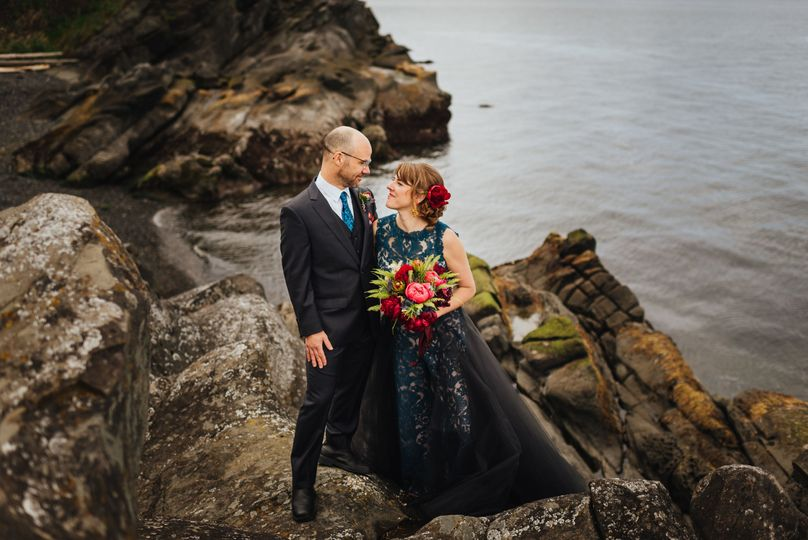 Couple by the waters
