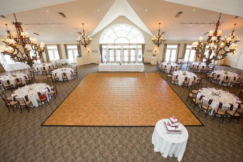 ballroom photo with new carpet