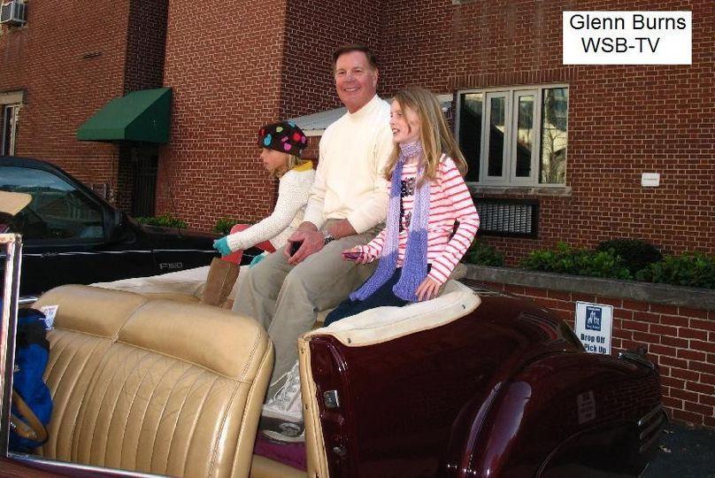 Glens Burns and granddaughters