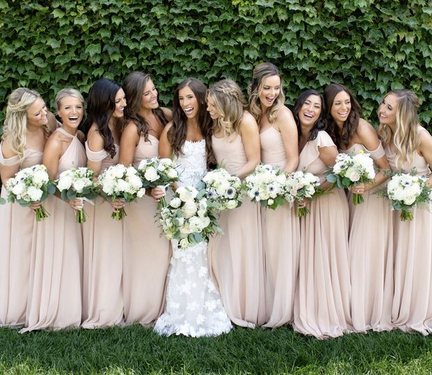 Nude-pink wedding gowns