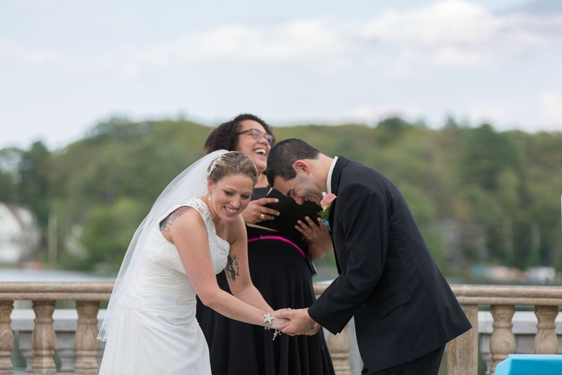 Laughing during the Ceremony
