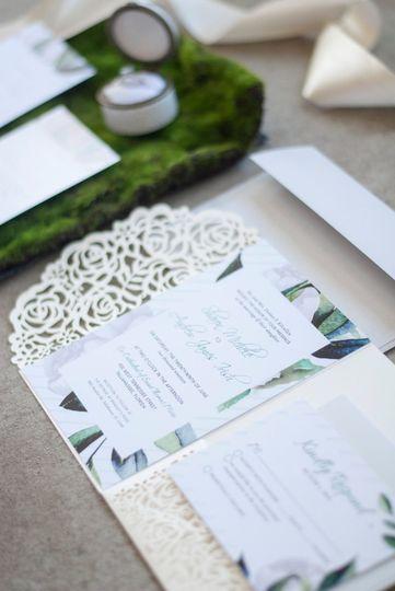Irish inspired invitations