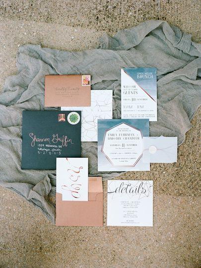 Boho Copper invitations