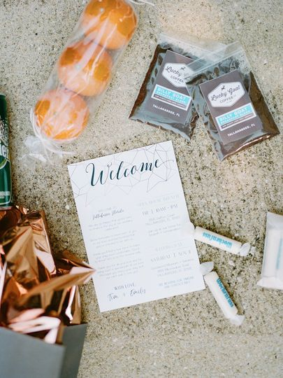 Welcome Bag note