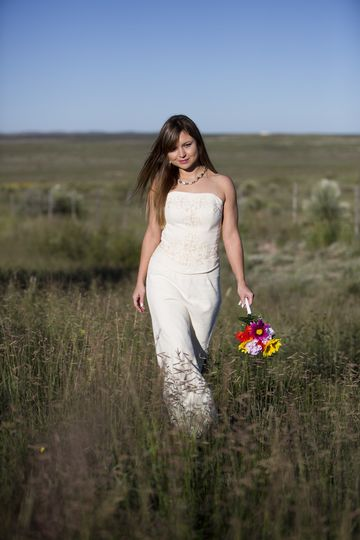 Custom Made Mexican Chiapas Wedding dress. A gorgeous West Texas day on the Pinto Canyon Road near...