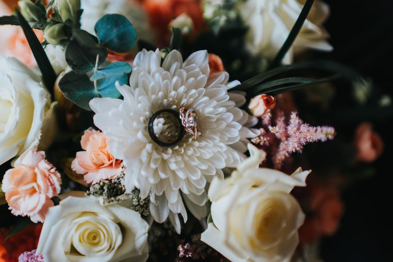 Rings on the bouquet