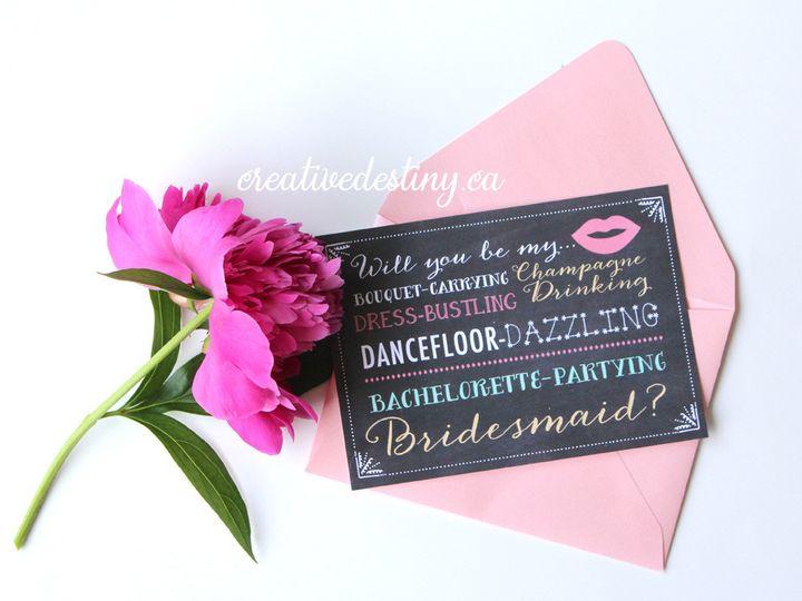 Tmx 1440696168076 Bridesmaid Proposalcards Parker Dam, CA wedding invitation