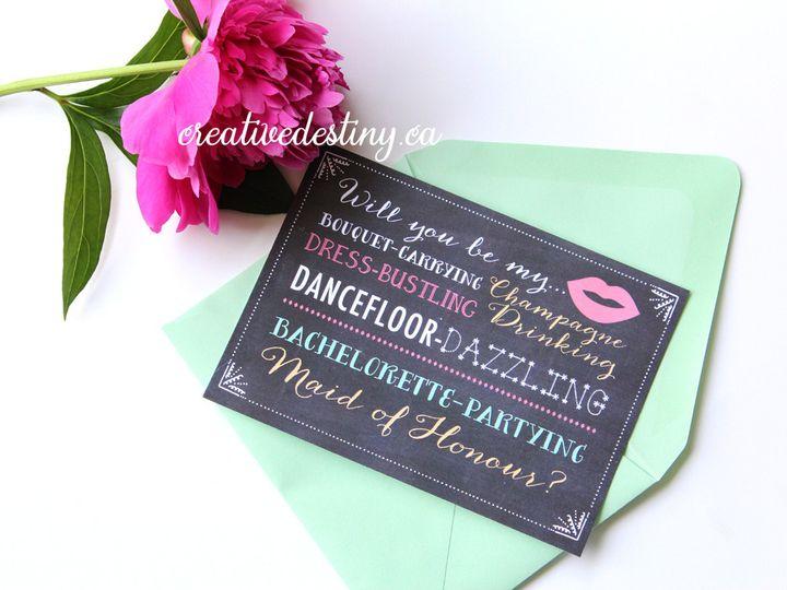 Tmx 1440696172555 Maidofhonour Proposalcards Parker Dam, CA wedding invitation