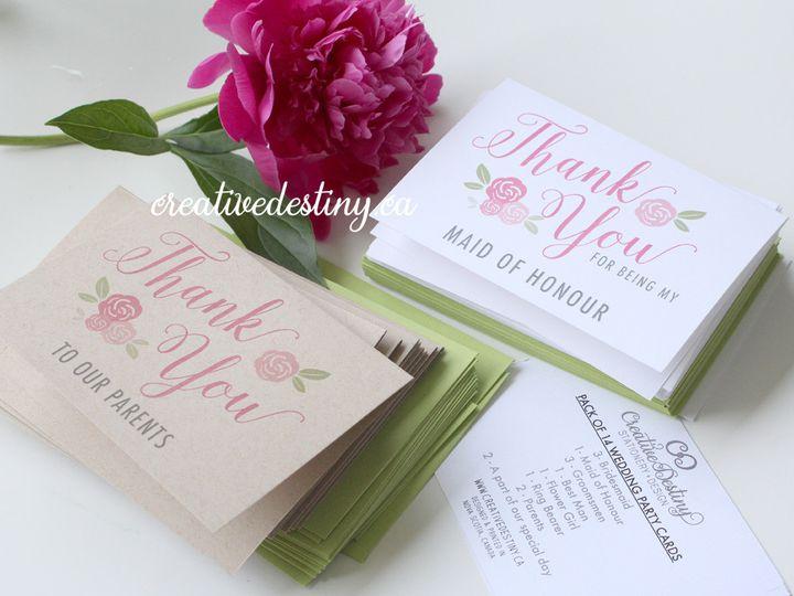 Tmx 1440696178820 Weddingparty Thankyous2 Parker Dam, CA wedding invitation