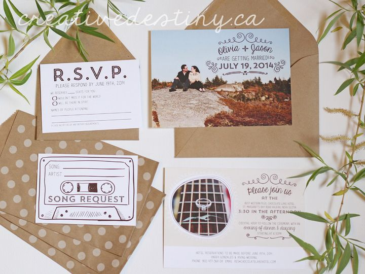 Tmx 1440696387688 Oliviajason1 Parker Dam, CA wedding invitation