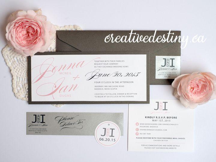 Tmx 1440696724878 Jennaian1 Parker Dam, CA wedding invitation